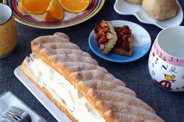 蓝莓淡奶油海绵蛋糕的做法