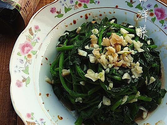 #菁选酱油试用之:白灼西洋菜的做法