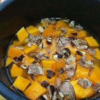 #精品菜谱挑战赛#一键式,糙米南瓜腊肉饭的做法图解5