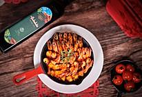 鸿运当头年夜饭—橄榄油果香虾的做法
