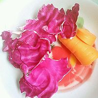 椰蓉胡萝卜冻和椰蓉紫甘蓝冻的做法图解1