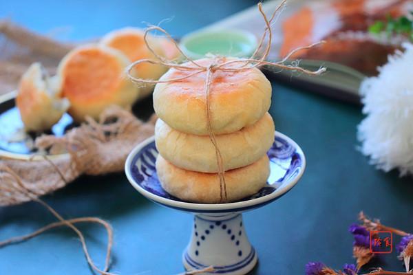 素油黑芝麻糖酥饼的做法