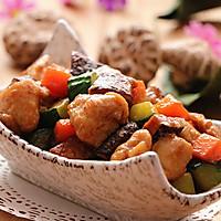 减肥食谱|酱香花菇鸡丁的做法图解8