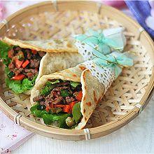 超软牛肉粒蔬菜卷饼#樱花味道#