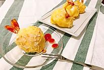 一颗大虾球 土豆泥奶酪杏仁烤箱版的做法