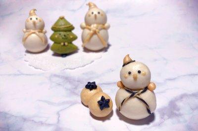 奶香包之雪人与树