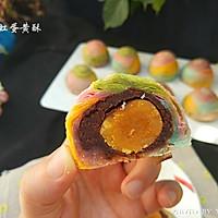 彩虹蛋黄酥的做法图解28