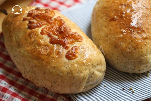 欧芹荞麦肉松面包的做法