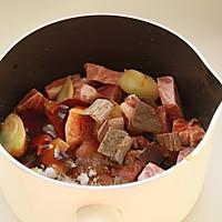 鲜肉鸭蛋黄粽子(内含红豆大枣口味)的做法图解4
