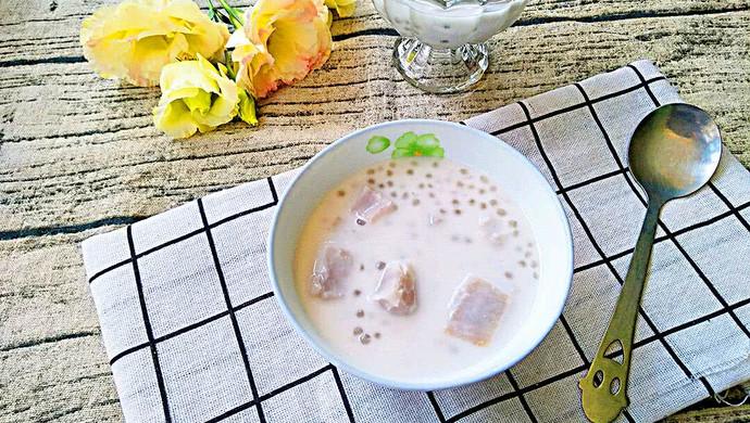 椰汁芋头西米露