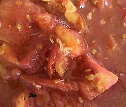 西红柿汁煎鸡蛋的做法