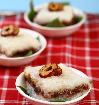 豆沙糯米凉糕