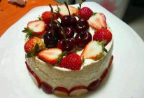 6寸水果蛋糕【君之配方8寸烫面戚风蛋糕】的做法