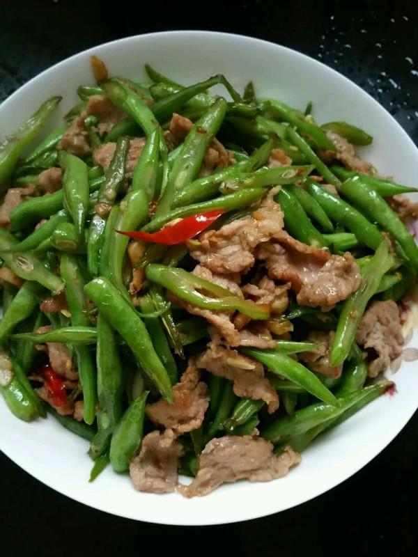 四季豆小炒肉的做法