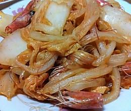 虾脑白菜的做法