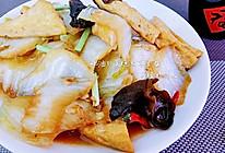小雪节气菜~蚝油白菜烧木耳豆腐的做法