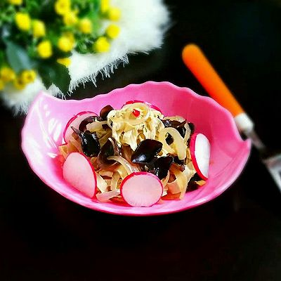 黑木耳炒豆皮丨清淡营养美味