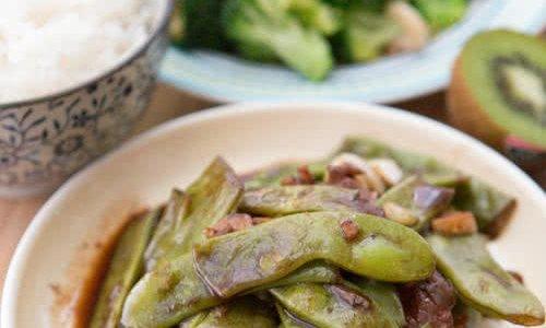肉焖扁豆的做法