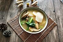 #换着花样吃早餐#鸡肉杂蔬年糕汤的做法