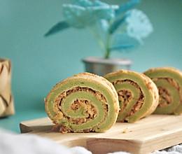 #餐桌上的春日限定#下午茶的一抹绿菠菜肉松卷的做法