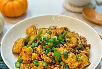 #橄榄中国味 感恩添美味#鸡肉糜烩豆腐的做法