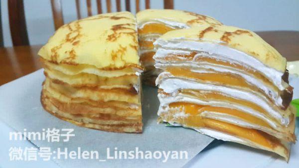 芒果千层蛋糕的做法_【图解】芒果千层蛋糕怎么做好吃