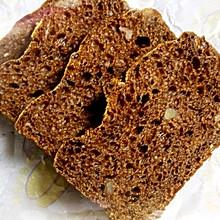 无油免揉红糖核桃面包