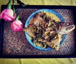 雪菜米鱼的做法