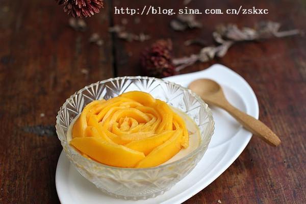 免烤芒果蛋奶布丁的做法