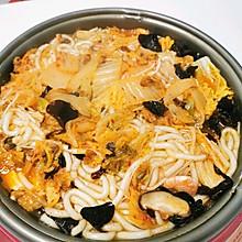 自制韩式辣白菜火锅