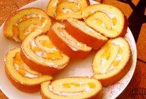 芒果瑞士卷 芒果戚风蛋糕卷(10寸方烤盘)的做法