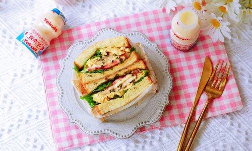 畅快早餐,元气满满一整天  ~黑椒鸡胸肉厚蛋三明治的做法