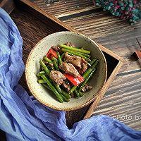 蒜苗炒牛肉片