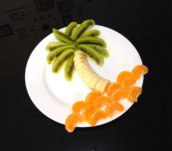 椰岛风水果拼盘的做法