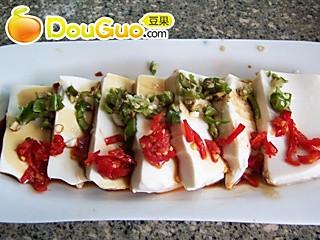 双椒蒸豆腐的做法