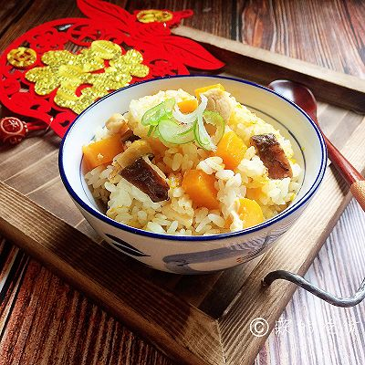 南瓜鸡胸香菇焖饭