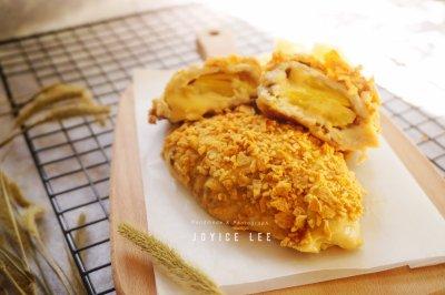 菠萝芝士爆浆薯片鸡排,非油炸,清新香甜美味