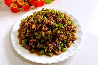 蚝油尖椒炒肉末