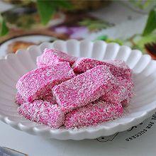 火龙果椰蓉奶糕