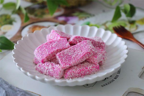 火龙果椰蓉奶糕的做法