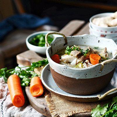 鲜美菌菇牛排汤
