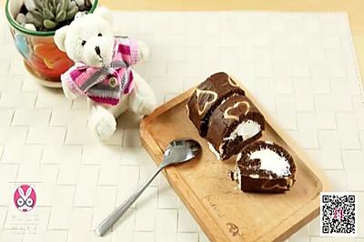 【微体】爱心款可可蛋糕卷 甜点界的微苦代表作