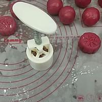火龙果藜麦蔓越莓冰皮月饼的做法图解25