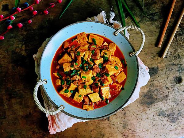 酱香豆腐肉块,双重蛋白质的做法