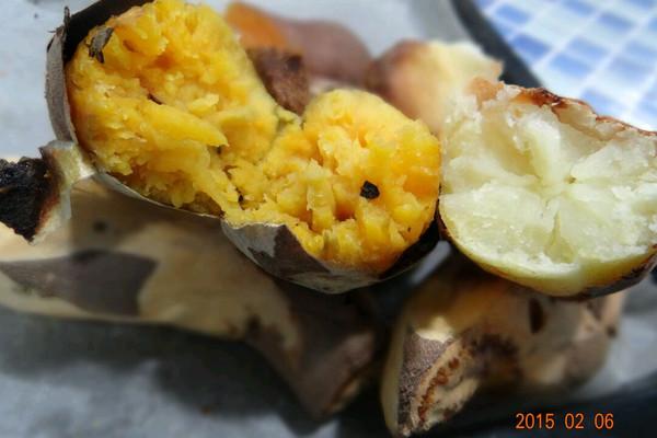 家常烤地瓜土豆的做法