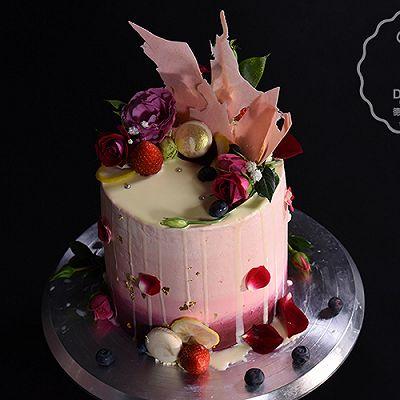 德普烘焙食谱—淋落幻彩蛋糕