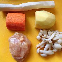 宝宝辅食篇之~菌菇鸡肉丸子~的做法图解1
