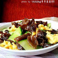 夏日小菜:黄瓜木耳炒鸡蛋的做法图解14