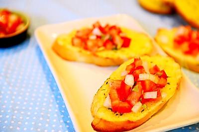 早餐-番茄香草蒜香面包