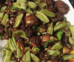 干煸排骨四季豆的做法